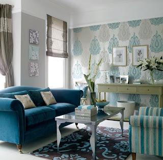 sala classica azuis castanhos imagens