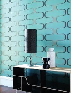 papel parede sala turquesa