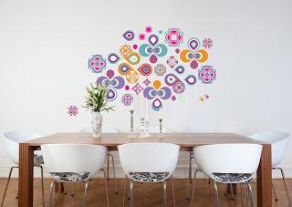 autocolantes parede sala imagens