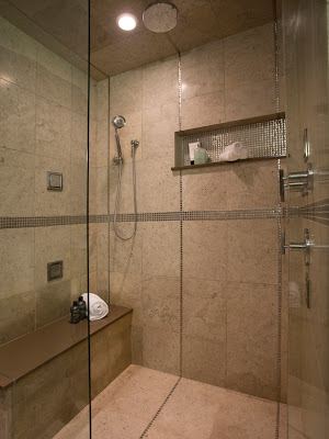 Meuble et decoration de salle de bain for Douche contemporaine