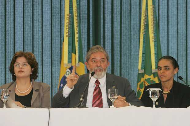 Dilma, Presidente Lula e Marina