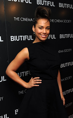 Alicia Keys out at BET Studios and at the premiere of