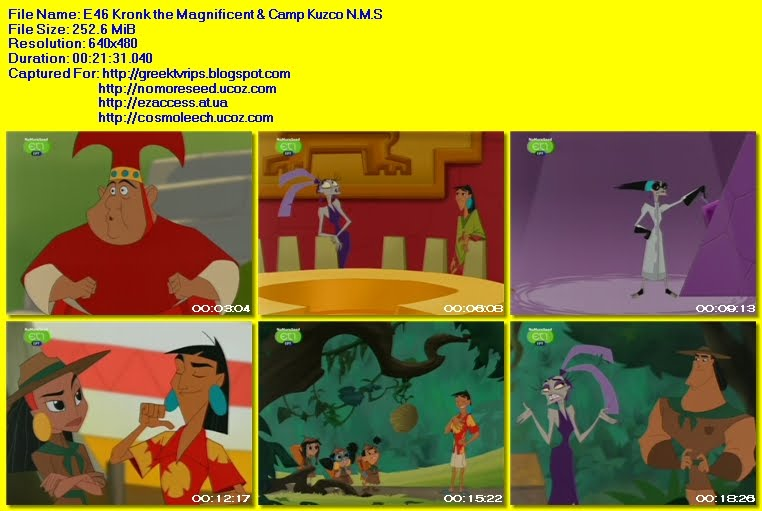 ΕΝΑ ΣΧΟΛΕΙΟ ΓΙΑ ΤΟΝ ΑΥΤΟΚΡΑΤΟΡΑ - THE EMPEROR'S NEW SCHOOL -  S02E46 - Kronk The Magnificent & Camp Kuzco N.M.S. (ΕΤ1)