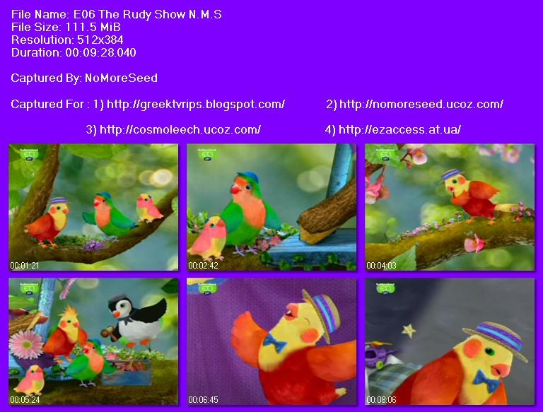 ΟΔΟΣ ΤΣΙΟΥ 3 (ΘΕΑΤΡΟ ΠΟΥΛΙΩΝ) - S01E06 - 3RD AND BIRD  (BIRD THEATRE) - THE RUDY SHOW (ΜΕΤΑΓΛΩΤΤΙΣΜΕΝΟ ΣΤΑ ΕΛΛΗΝΙΚΑ) N.M.S.  (NET)
