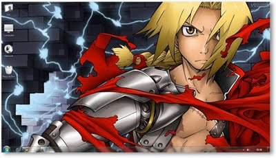 Windows 7 Themes : Full Metal Alchemist Theme