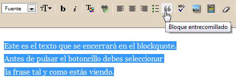 blockuote en blogger, blogger trucos blogs, trucos ayuda blogger, codigo caja, caja texto blogger, blogger trucos
