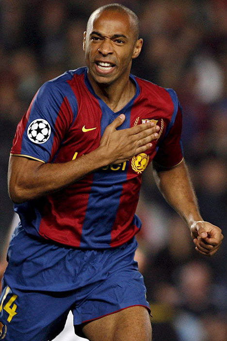 sports champions players: thierry henry best footballer