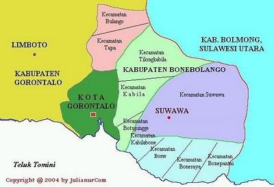 Hasil gambar untuk peta bone bolango