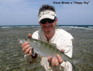 Photo of Steve holding a bonefish
