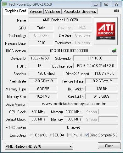 AMD Radeon HD6670 GPU-Z