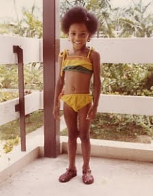 Teresha as a child in Jamaica