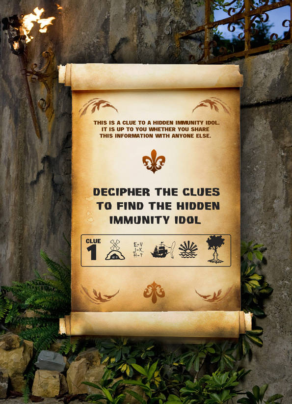 Above is the hidden immunity idol clue that Alina discovered from the young