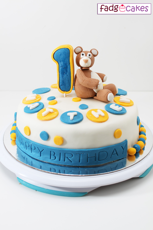 Fadgecakes Teddy Bear Fondant Cake
