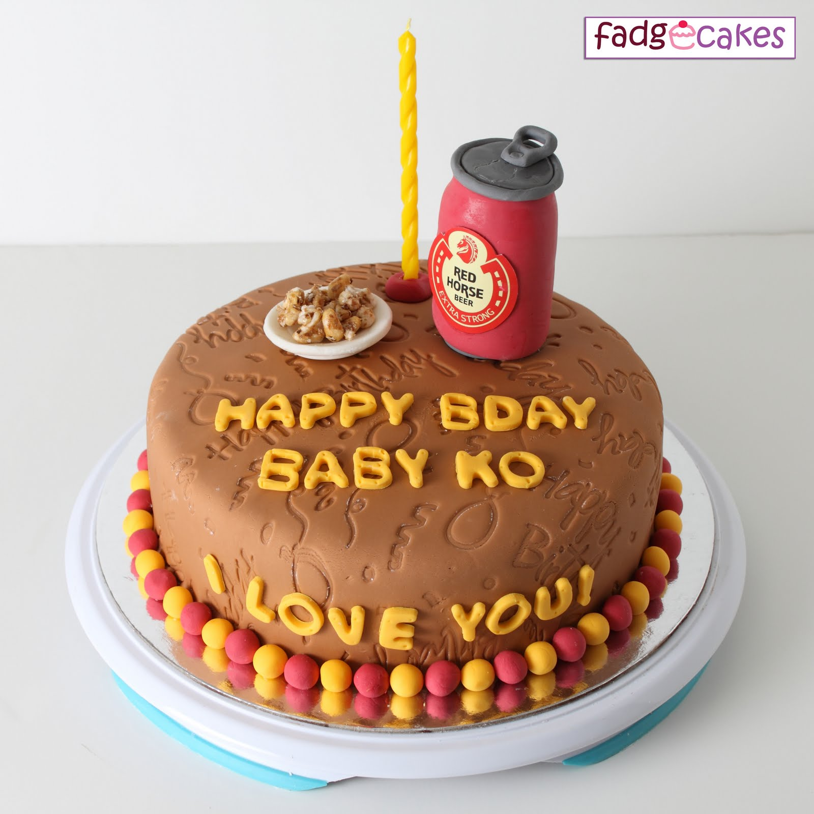 Red Horse Cake Design : fadgecakes: Red Horse Beer Cake with Pulutan