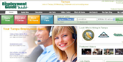 Tampa Employment Guide New Home Page