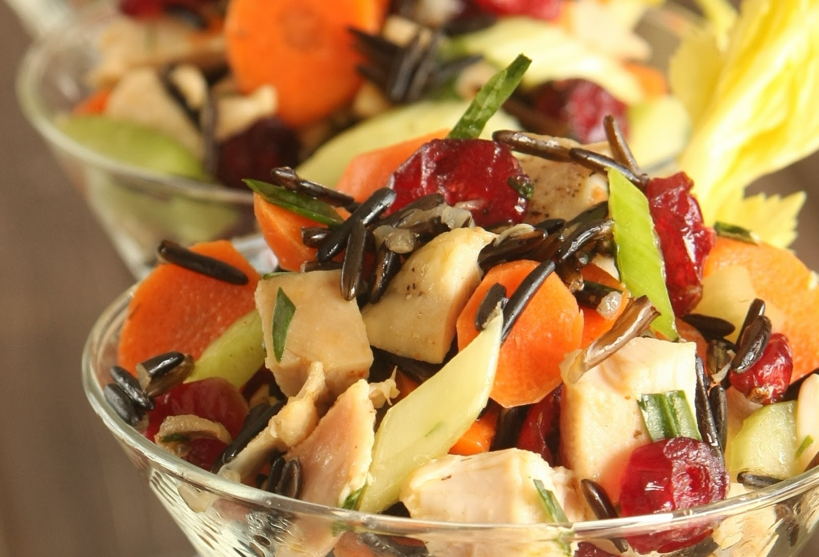 Thanksgiving Recipes Wild Rice Cranberry Salad With