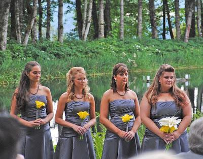 Slender custom made princess strapless applique tiered taffeta sweep train wedding yellow dress pwd 001