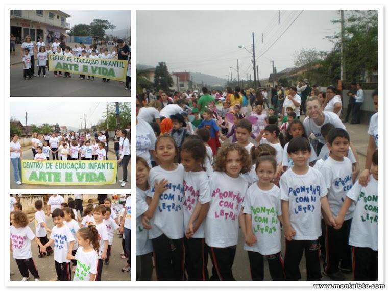 Desfile no bairro