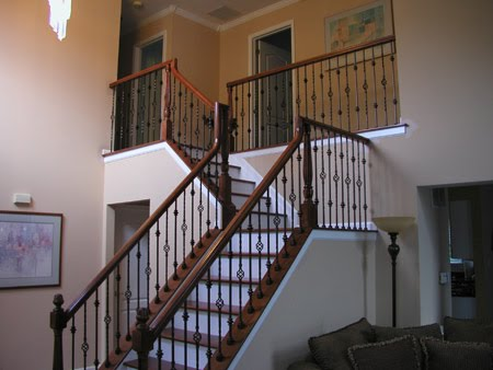 Hereu0027s A Stair And Rail Remodel Job We Recently Completed In Haddon  Township, New Jersey. We Used 6900 Series Handrail. The Posts Are The  4410R, ...