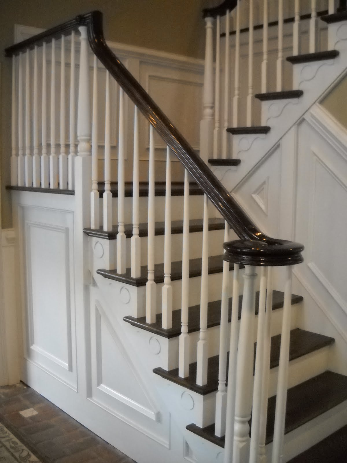 ... staircase and rail and balusters owner wanted foyer opened up to 3rd