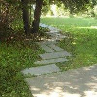 Caminos y senderos de losa una opci n para el jard n - Losas para jardin ...