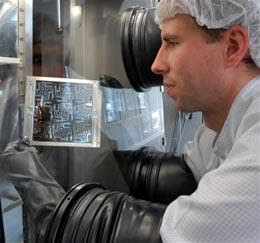 Computer circuits made from organic molecules could be used to build lightweight, flexible displays.