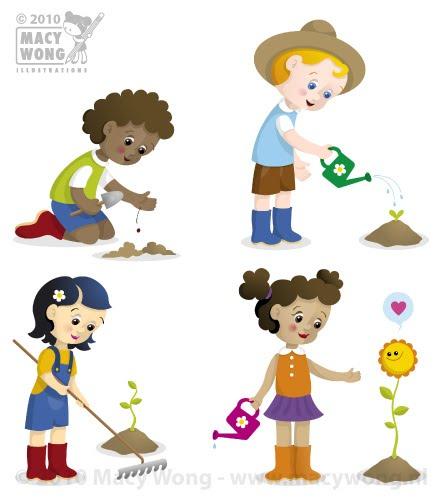 Macy Wong illustrations Blog: Gardening fun
