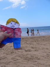 Flat Stanley travels with Tess