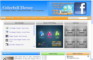Colorfull Theme Blogger Template is free template with 3 Columns layout, Blue, Gray, Magazine, Elegant, CSS3, 3 Column,  Orange, Menu.