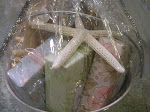 SOAPS, SCENTS, SCRUB BRUSH, SISAL SOAP SAVER, AND STARFISH!