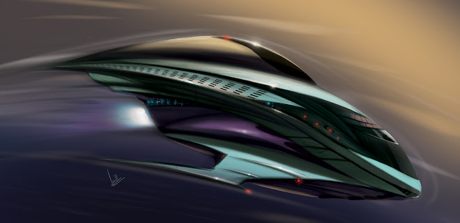 Space ship concept coloured