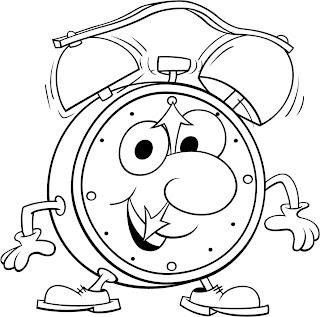 O Relógio Texto de Vinícius de Moraes Relógio para Colorir