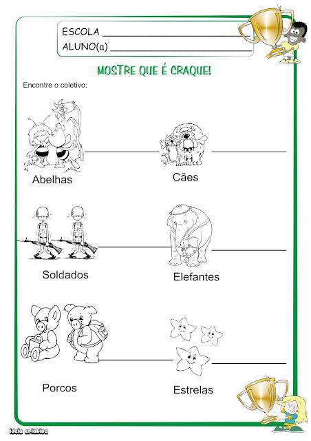 Jogo Substantivo Coletivo e Atividade