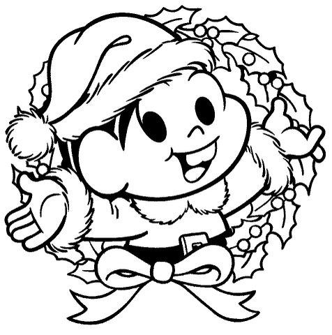 atividade desenhos de natal da turma da mônica para colorir - imagens para colorir turma da monica de natal