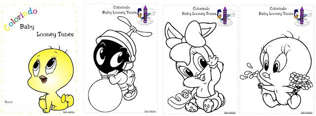 Caderno de Colorir Piu - Piu Baby Looney Tunes
