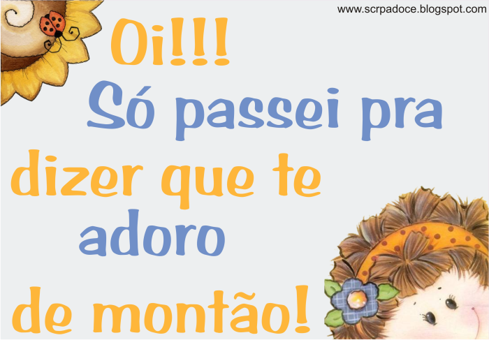 Recadinho Te Adoro pra Orkut