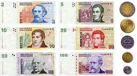 Evolucion de la moneda argentina