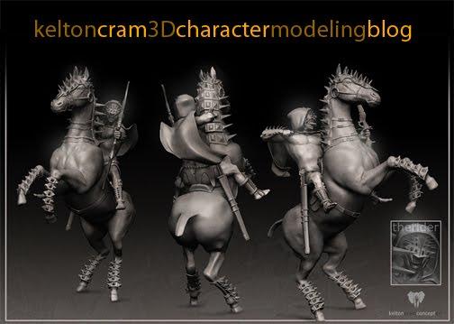 Kelton Cram 3D Character modeling