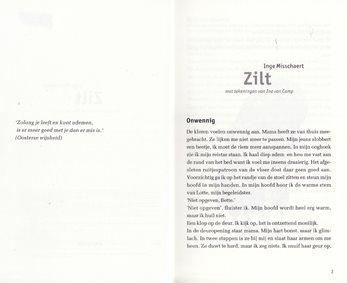 """titelblad Vlaams Filmpje """"Zilt"""""""