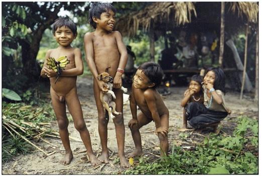 South American Tribal Girls Pirah� tribe - south america