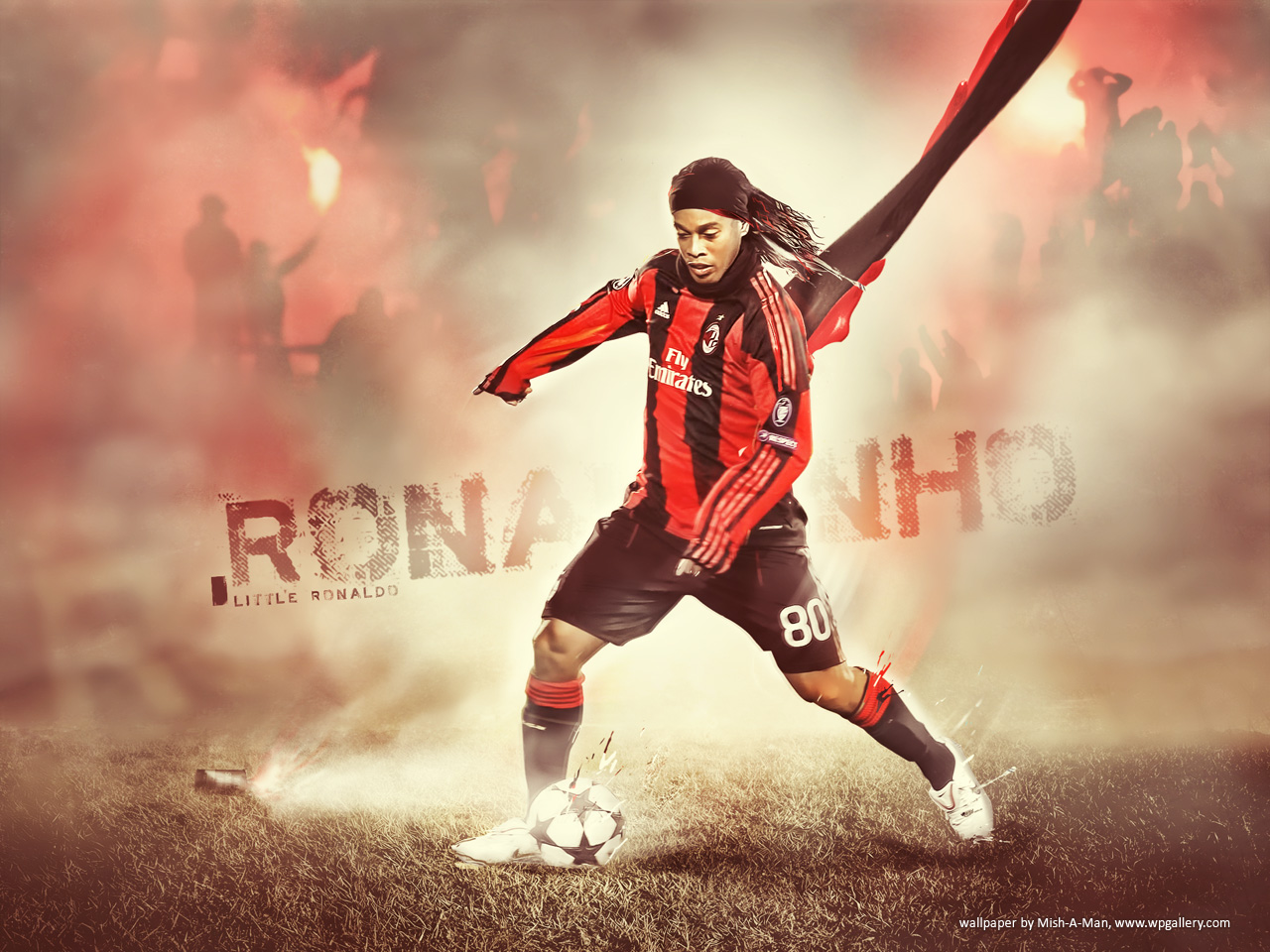 Football Wallpapers&Football-Avatars: Wallpaper-Ronaldinho