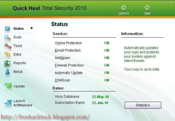 quick heal total security 2012 free download trial version with crack