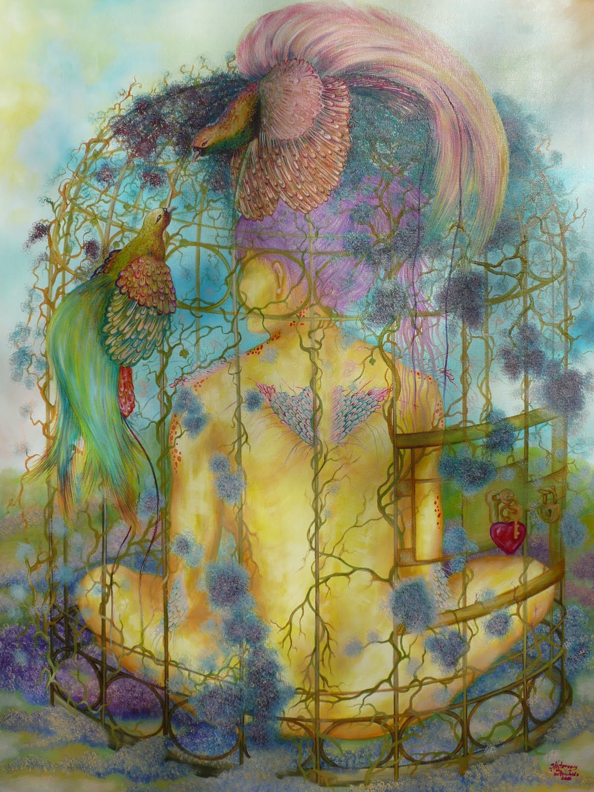 fantasy painting love is the key oil painting gallery