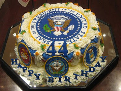 Denies Obama birth cake picture