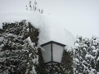neige lampadaire