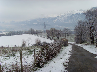 neige chemin de campagne