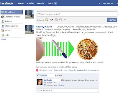 facebook test de grossesse
