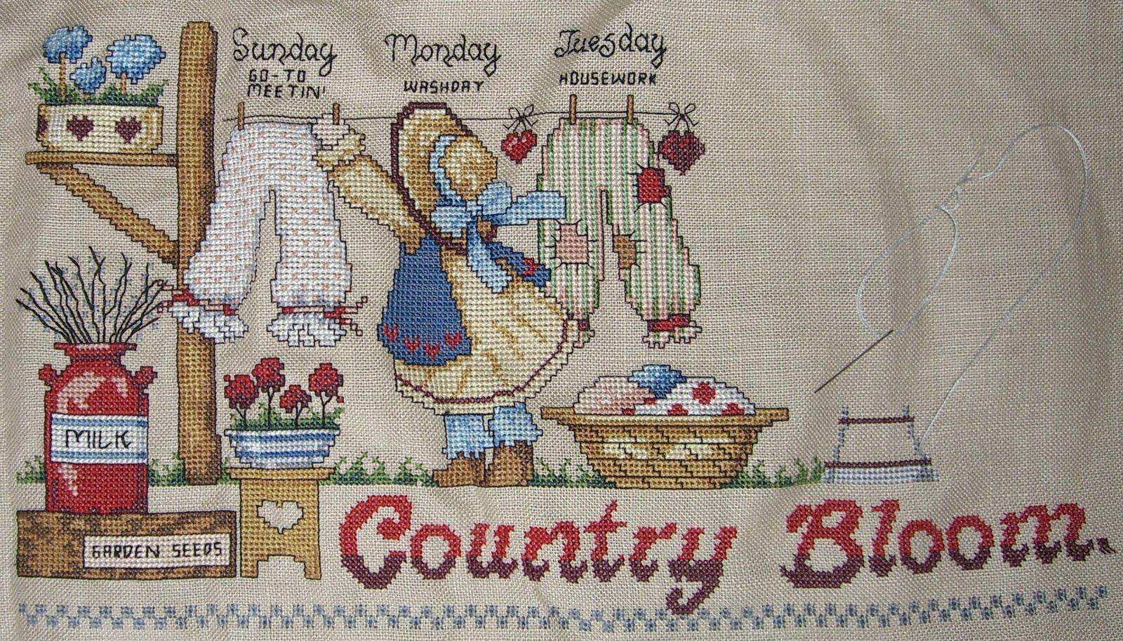 Les petites croix de: Country bloomers, mi-parcours