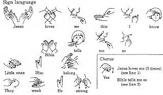 Divine image with jesus loves me sign language printable