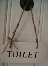 Toilet kyltti 6€